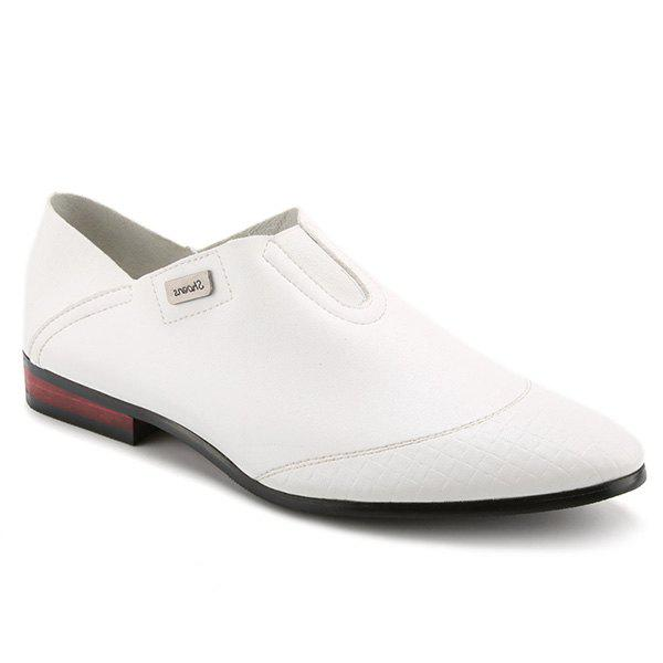 Élégant Slip-On et solides Souliers simples Color Design Men  's - Blanc 43