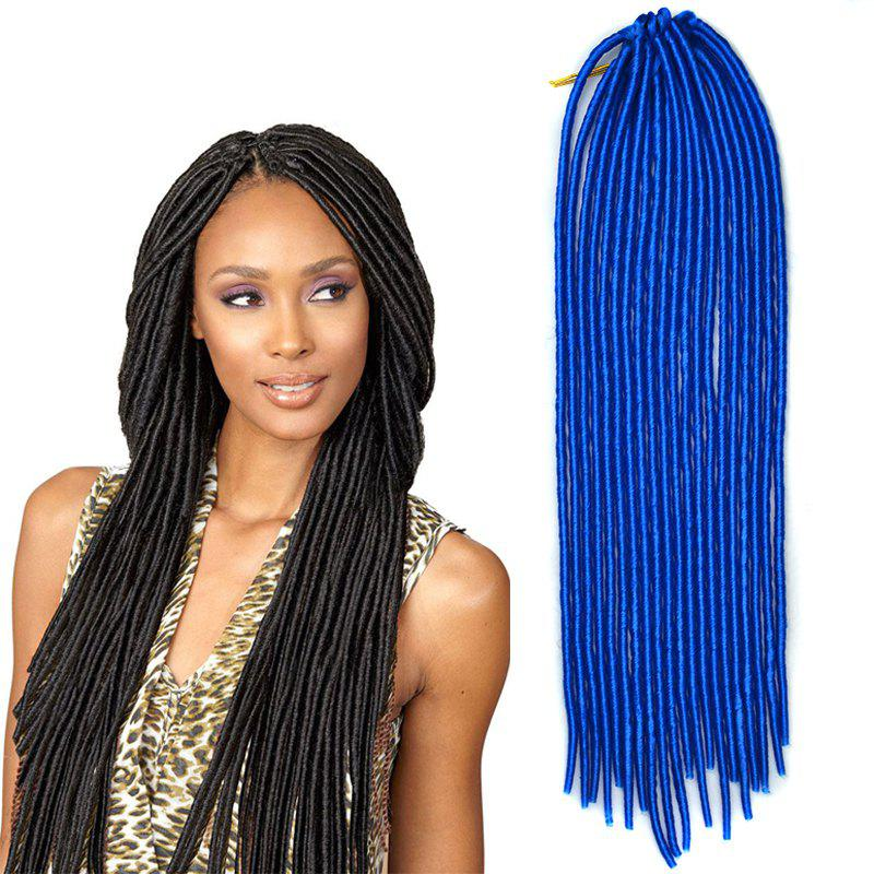 Fashion Heat Resistant Synthetic Solid Color Dreadlock Hair Extension For Women - SAPPHIRE BLUE