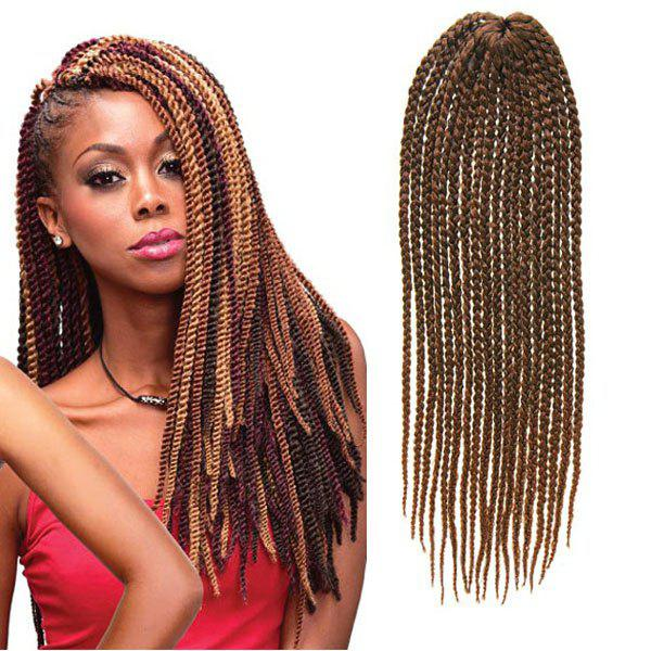 Stylish 14Pcs/Lot Handmade Medium Braided Dark Brown Ombre Synthetic Hair Extension For Women -  OMBRE