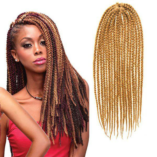 Fashionable 18Pcs/Lot Long Synthetic Handmade Small Braided Hair Extension For Women -  GOLDEN