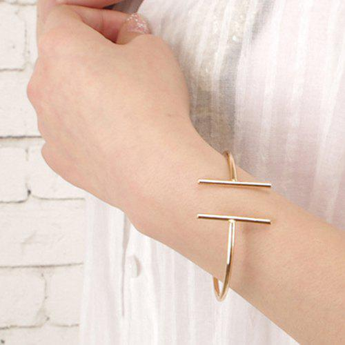 Chic Style Cut Out Solid Color Alloy Geometric Bracelet For Women