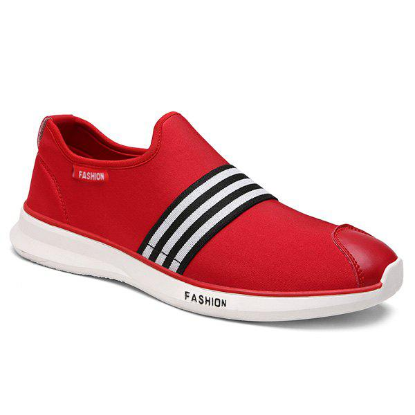 Stylish Striped and Stretch Fabric Design Men's Casual Shoes