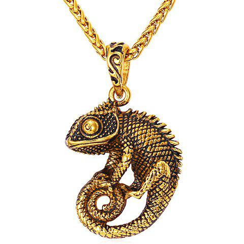 Chic Solid Color Animal Pendant Necklace For Men