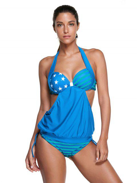 s 'Tankini Set Chic Halter Star Print Striped femmes - Azur M