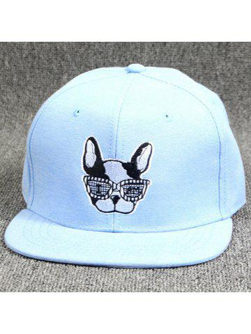 Cool Summer Modern Spectacled Small Dog Head Embroidery Baseball Cap For  Women b89d36b707d