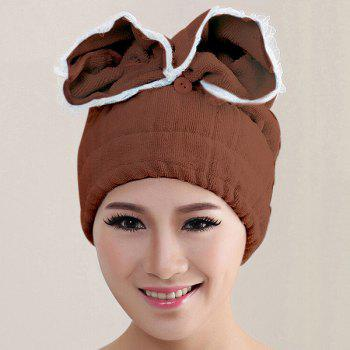 Fashionable Multicolor Microfiber Super Absorbent Dry Hair Towel Bathing Cap