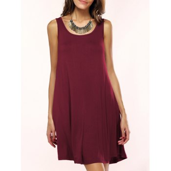 Scoop Neck Sleeveless Flare Dress