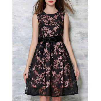 Bowknot Decorated Sleeveless Dress
