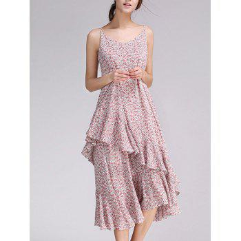 Floral Print Frilly Cami Dress
