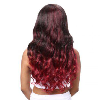 Charming Long Wavy Mixed Color Side Bang Synthetic Hair Wig For Women - COLORMIX