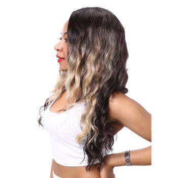 Stylish Long Wavy Mixed Color Side Parting Synthetic Hair Wig For Women - COLORMIX