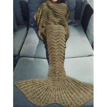 Handmade Knitted Mermaid Tail Design Blanket - EARTHY EARTHY