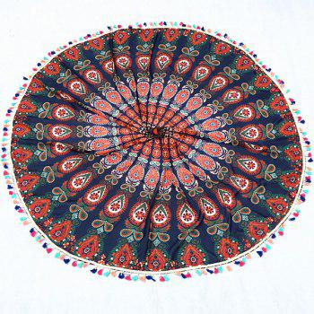 Bohemian Colorful Tassel Indian Mandala Tapestry Wall Hanging Throw Yoga Mat Decor Round Beach Throw