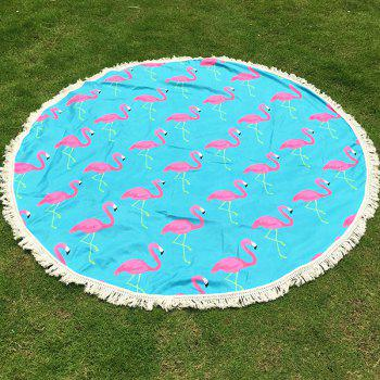 Tropical Style Tassel Fringing Yoga Mat Gypsy Cotton Tablecloth Flamingo Round Beach Throw