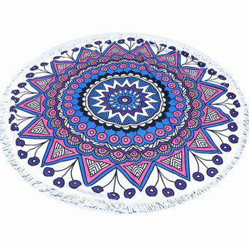 Tropical Style Tassel Fringing Yoga Mat Gypsy Cotton Tablecloth Flower Totem White Round Beach Throw