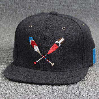 Cool Summer Baseball Bat Embroidery Hip Hop Street Performance Black Baseball Cap