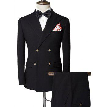 Double-Breasted Slimming Lapel Long Sleeve Men's Twinset Suit ( Blazer + Pants )