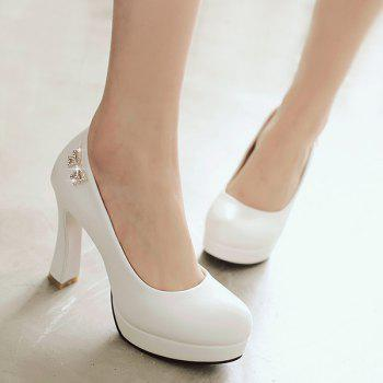 Fashionable Platform and Bow Design Women's Pumps