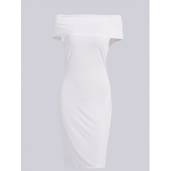 Sexy Women's Off The Shoulder Knee-Length Short Sleeve Dress