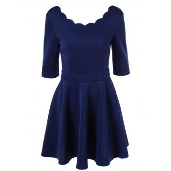 Elegant Pure Color Tight Dress For Women