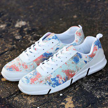 Fashionable Multicolor and Printed Design Men's Casual Shoes - WHITE 40