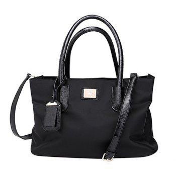Leisure Solid Color and Nylon Design Women's Tote Bag