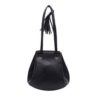 Leisure Tassel and Drawstring Design Women's Crossbody Bag