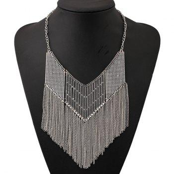 Hollow Out Geometric Chains Necklace