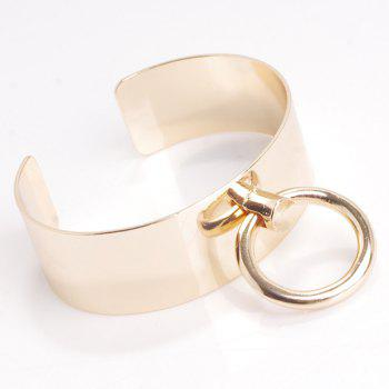 Hollow Out Circle Alloy Cuff Bracelet - CHAMPAGNE