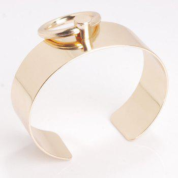 Hollow Out Circle Alloy Cuff Bracelet