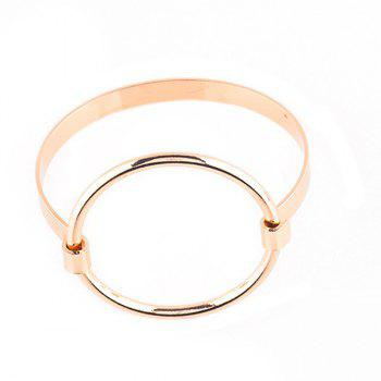 Big Round Circle Hollow Out Bracelet - GOLDEN