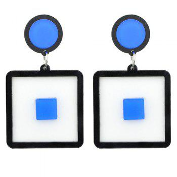 Pair of Square Drop Earrings