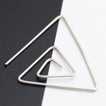 Hollowed Spiral Triangle Earrings