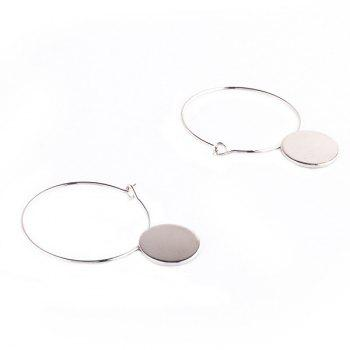 Pair of Disc Hollow Out Circle Earrings
