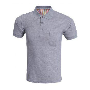 Classic Short Sleeve Pure Color Polo Shirt For Men