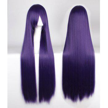 Attractive 100CM Extra Long Silky Straight Purple Side Bang Anime Cosplay Wig