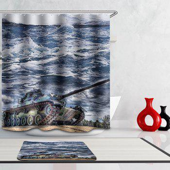 Hot Selling Bathroom Tank Pattern Waterproof Shower Curtain - COLORMIX COLORMIX