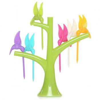 Creative Kitchen Tool Tree Flying Birds Shape Fruit Forks