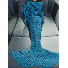 Handmade Knitted Mermaid Tail Design Blanket