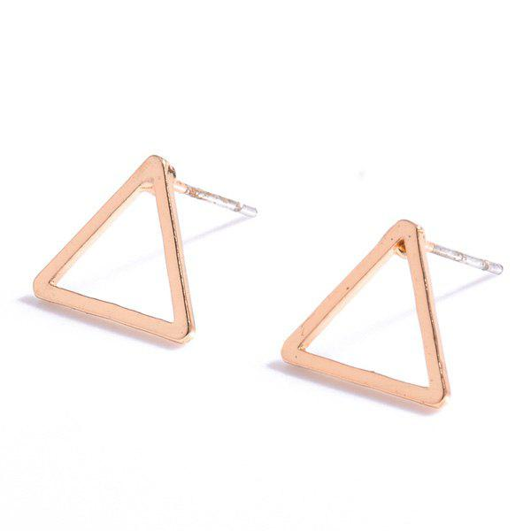 Pair of Simple Style Hollow Out Solid Color Triangle Stud Earrings For Women