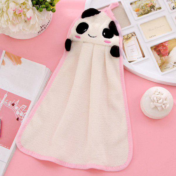 Soft Coral Fleece Kitchen Candy Colors Panda Cartoon Rubbing Towel