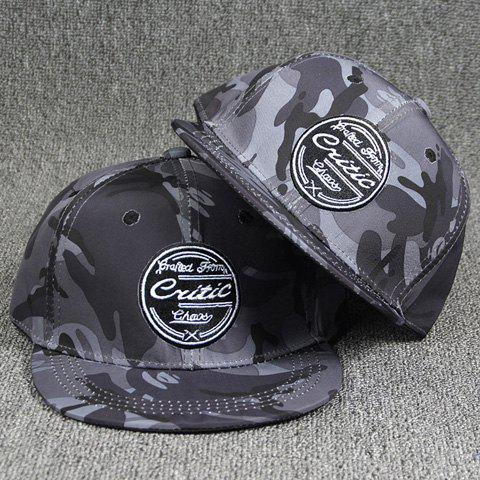 Outdoor Round Letters Labelling Camouflage Pattern Gray Baseball Cap