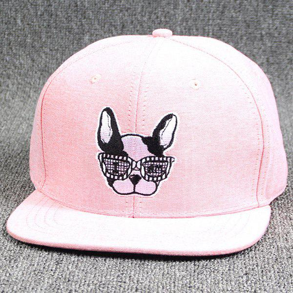 211be018c0aec Cool Summer Modern Spectacled Small Dog Head Embroidery Baseball Cap For  Women