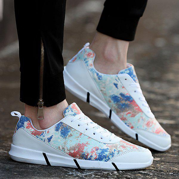 Fashionable Multicolor and Printed Design Men's Casual Shoes