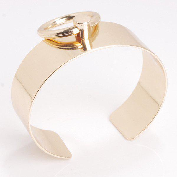 Hollow Out Circle Alloy Cuff Bracelet hollow out round pattern alloy cuff bracelets