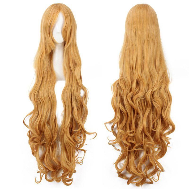 Fluffy Wave Charming Yellow Extra Long Synthetic Aisaka Taiga Cosplay Wig - YELLOW