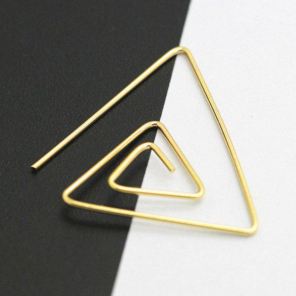 Hollowed Spiral Triangle Earrings - GOLDEN