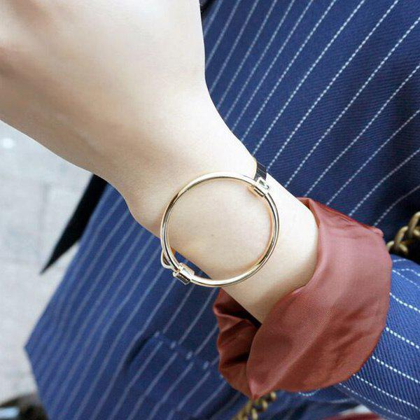 Brief Style Hollow Out Big Round Circle Solid Color Bracelet For Women