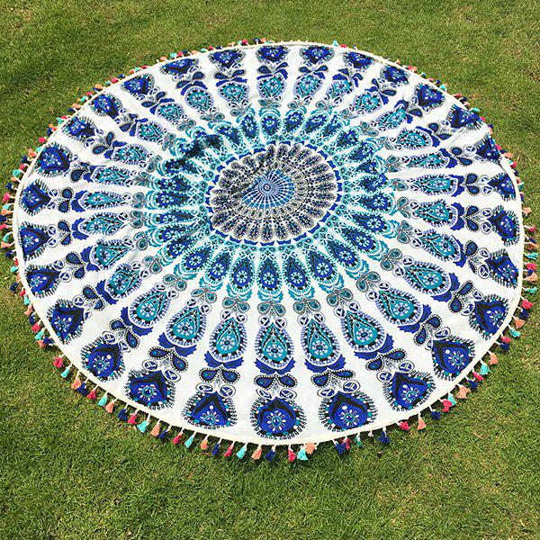 Bohemian Colorful Tassel Indian Mandala Wall Hanging Yoga Mat Gypsy Cotton Tablecloth White Round Beach Throw car styling tail lamp for hyundai rohens tail lights led tail light rear lamp led drl brake park signal stop lamp