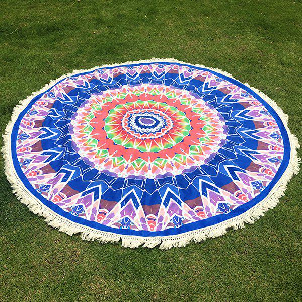 Bohemian Tassel Fringing Tribal Geometric Totem Yoga Mat Gypsy Cotton Tablecloth Round Beach Throw yoga mat